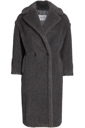 Max Mara Women's Teddy Wool & Alpaca Double Breasted Coat - Medium Grey - Size XS