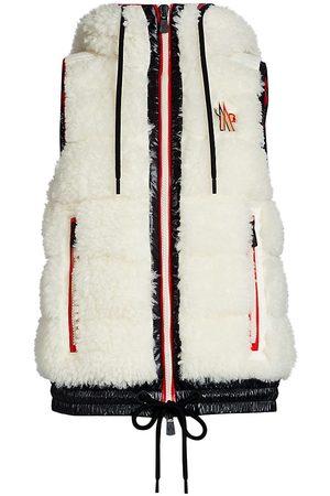 Moncler Eco Faux Fur Teddy Hooded Vest