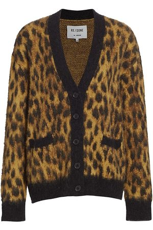 RE/DONE Women's Oversized Cheetah Cardigan - - Size Large