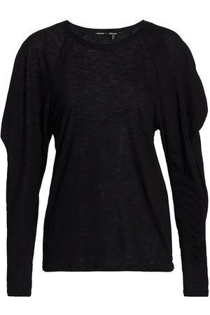 Proenza Schouler Women's Solid Tissue Jersey Puff Shoulder T-Shirt - - Size Large