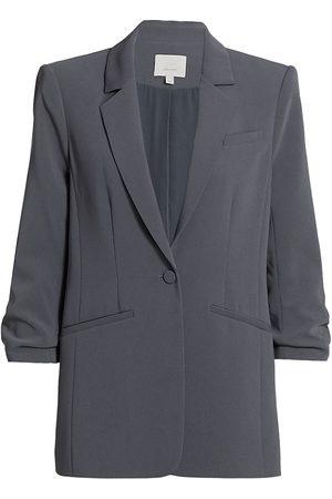 Cinq A Sept Women's Khloe Crepe Ruched Blazer - - Size 14