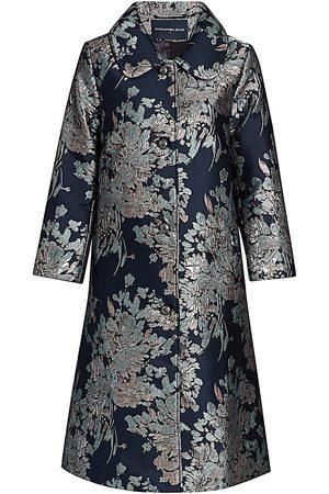 SAMANTHA SUNG Women's Hannah Pink Blossom Brocade Coat - - Size 10