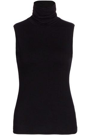 L'Agence Women's Ceci Sleeveless Turtleneck - - Size Large