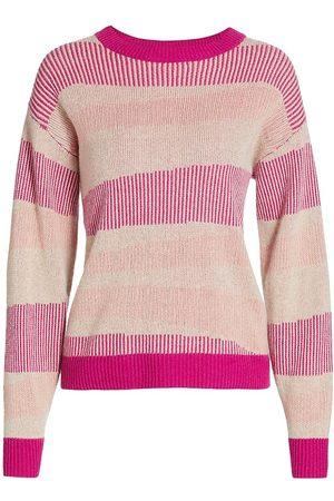 NAADAM Women Sweaters - Women's Swirl Striped Cashmere Sweater - - Size Large