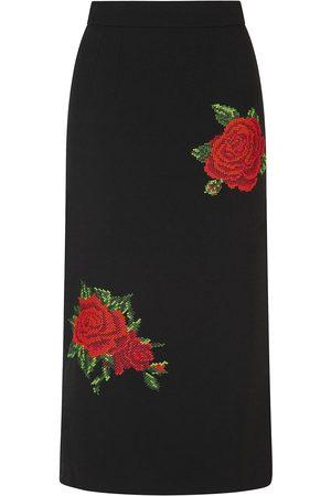 Dolce & Gabbana Floral-detail A-line skirt