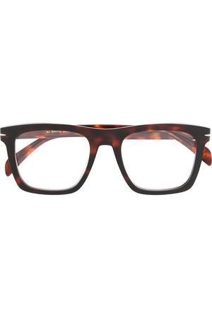 DB EYEWEAR BY DAVID BECKHAM Rectangular frame tortoise-shell glasses