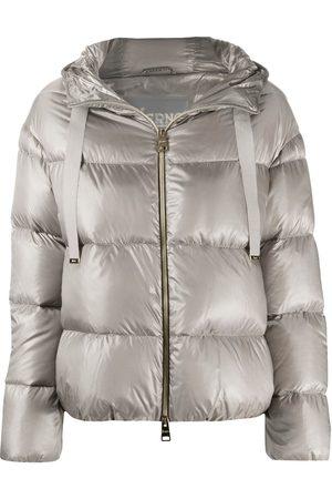 HERNO Metallic quilted puffer jacket - Neutrals