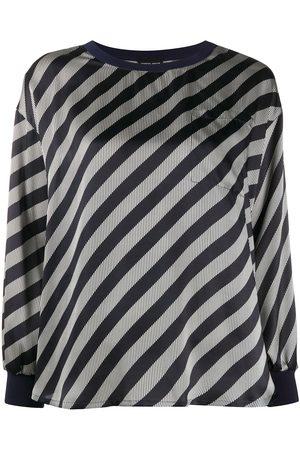 Armani Diagonal stripe print blouse