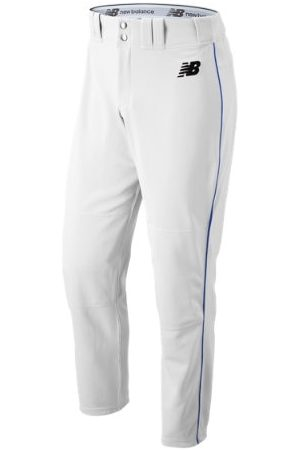 New Balance Men's Adversary 2 Baseball Piped Pant Athletic - White/Blue (BMP216WB)