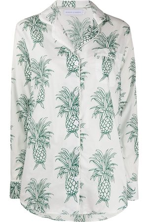 Desmond & Dempsey Women Pajamas - Howie Pineapple Signature pyjama set
