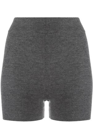 Cashmere In Love Ribbed-knit biker shorts - Grey