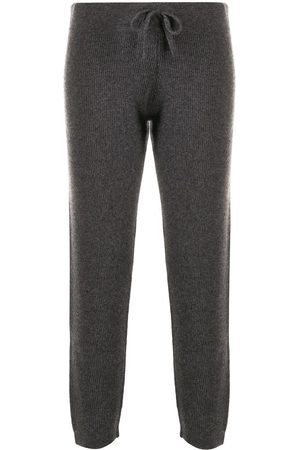 Cashmere In Love Ribbed-knit track pants - Grey