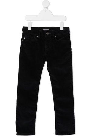 Emporio Armani Slim-fit velvet trousers