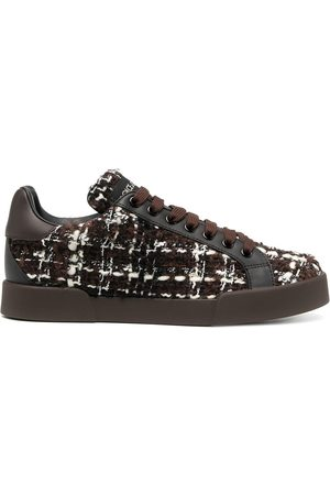 Dolce & Gabbana Portofino tweed low-top sneakers