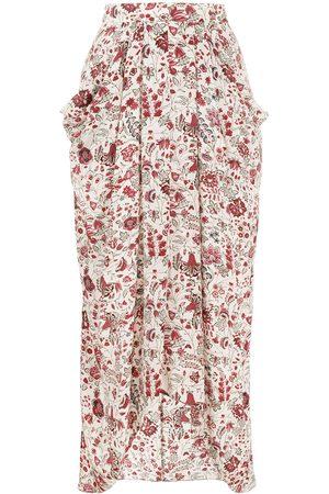 Isabel Marant Ginkinali floral-print skirt - Neutrals