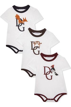 Dolce & Gabbana Logo-print short-sleeve romper