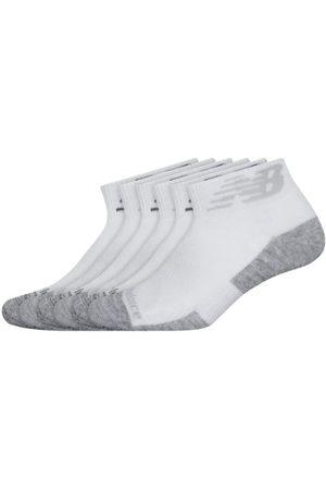 New Balance Unisex Performance Cushion Quarter Socks 6 Pack - White (LAS01736WT)