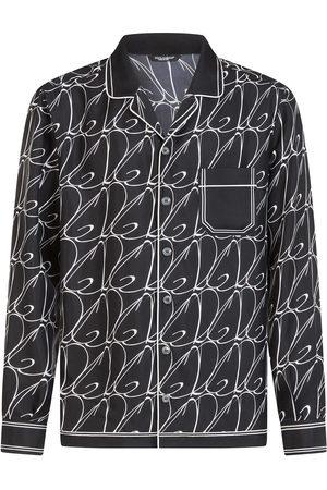 Dolce & Gabbana DG logo print pyjama shirt