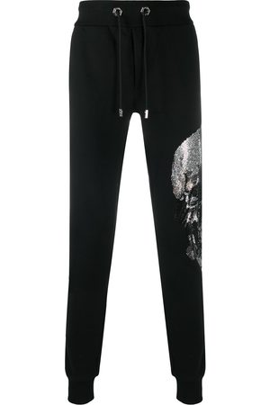 Philipp Plein Rhinestone-embellished skull jogging pants