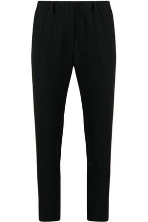 BLANCA Side-strip slim trousers