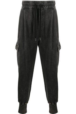 Dolce & Gabbana Acid-wash cargo track pants