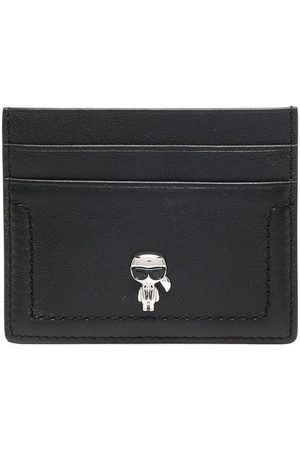 Karl Lagerfeld Logo plaque leather cardholder