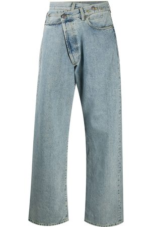 R13 Wide leg crossover jeans