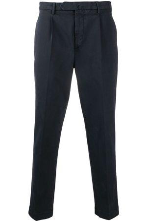 DELL'OGLIO Pressed crease cotton trousers