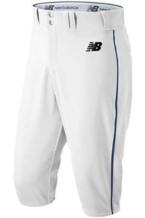 New Balance Men's Adversary 2 Baseball Piped Knicker Athletic - White/Navy (BMP240WN)