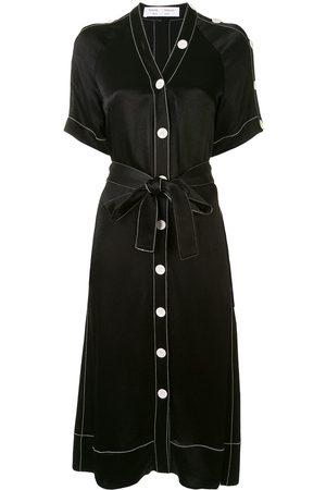 PROENZA SCHOULER WHITE LABEL Contrast stitching shirt dress