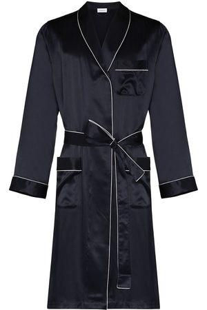 Zimmerli Men Bathrobes - Piped-trim silk robe