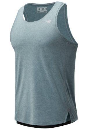 New Balance Men's Impact Run Singlet - Grey (MT01232LST)