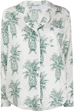 Desmond & Dempsey Howie Pineapple long pyjama set