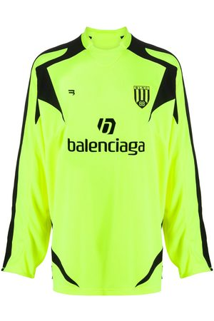 Balenciaga Long-sleeve football T-shirt