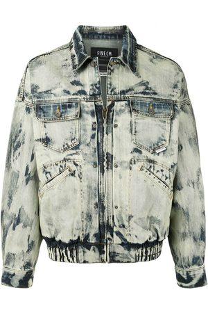 FIVE CM Acid wash denim jacket