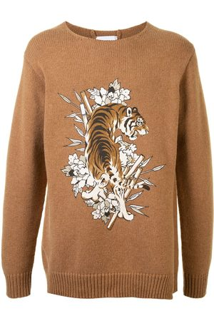 Ports V Tiger knit jumper