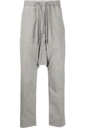 11 BY BORIS BIDJAN SABERI Drop-crotch track pants - Grey
