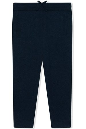Dolce & Gabbana Logo-embroidered cashmere trousers