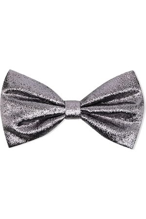HUCKLEBONES LONDON Metallic bow-detail hairclip