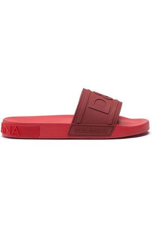Dolce & Gabbana Logo-embossed beachwear slides