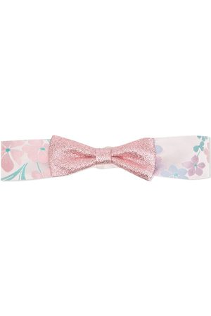 HUCKLEBONES LONDON Floral-print bow-detail headband