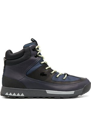 Lacoste Panelled high-top trainer boots