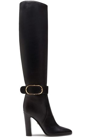 Dolce & Gabbana Buckled block-heel knee boots
