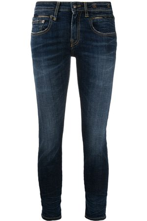 R13 Cropped low-rise skinny jeans