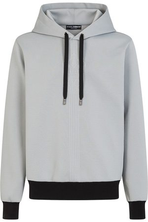 Dolce & Gabbana Drawstring-hood long-sleeve hoodie - Grey