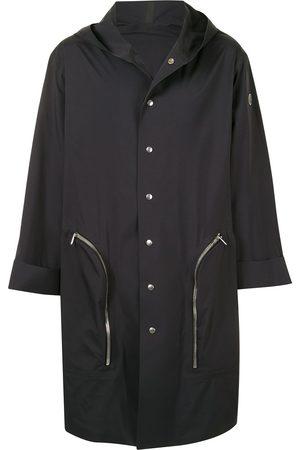 Moncler + Rick Owens Nesbitt hooded single-breasted coat