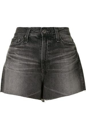 AG Jeans Raw-edge high-waisted shorts