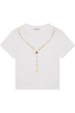 Dolce & Gabbana Necklace-print cotton T-shirt