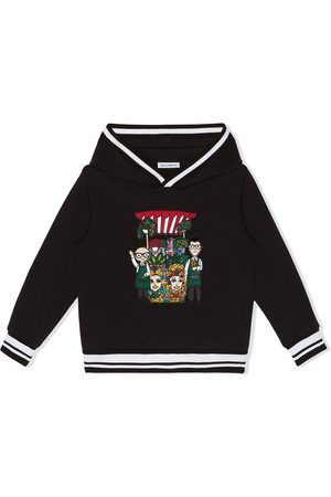 Dolce & Gabbana Embroidered stripe-trim hoodie