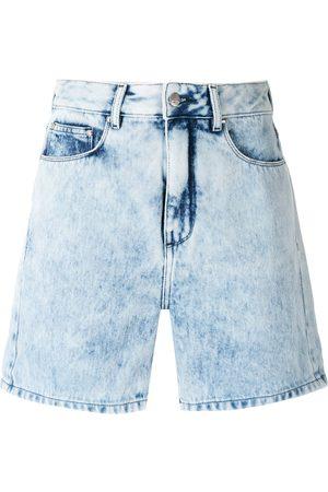 AMAPÔ Silvana pleated denim shorts